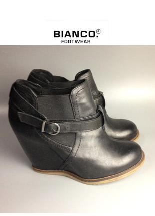 Bianco кожаные ботильоны из натуральной кожи сникерсы ботинки на платформе rundholz owens lang zara
