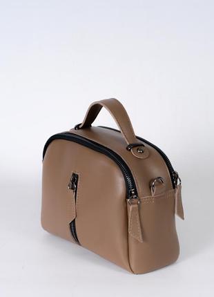 Коричневая маленькая сумочка через плечо кросс боди мини сумка модная с ручкой