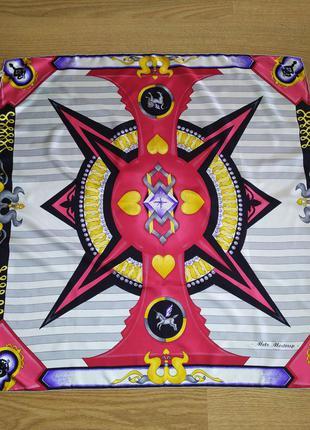 Metz mostrup paris роскошный винтажный подписной платок, саржевый шёлк