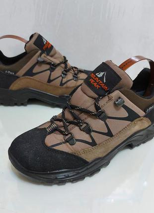 Кожаные/легкие треккинговые  термо ботинки/кроссовки mountain peak р. 37 (24 см) мембрана