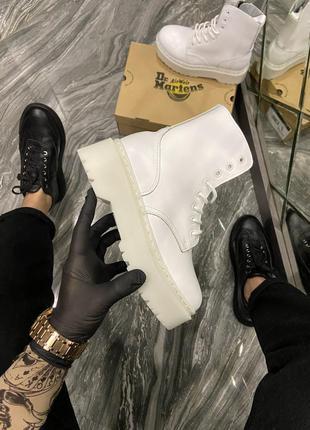 Ботинки /сапоги  женские dr martens jadone mono white. (без меха)