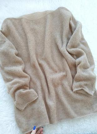 Нежный свитер паутинка из кидмохера и альпаки