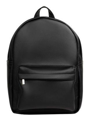 Черный стильный вместительный женский рюкзак  для учебы