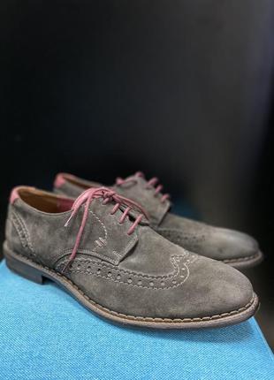Туфлі чоловічі замшеві оксфорди