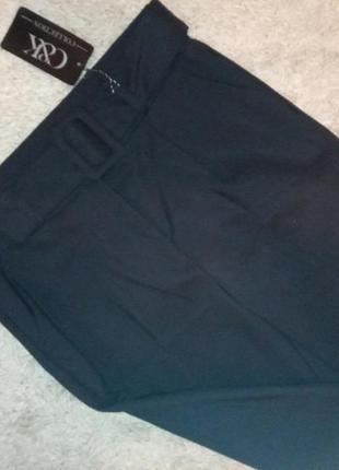 Жіночі темно-сині брюки з поясом