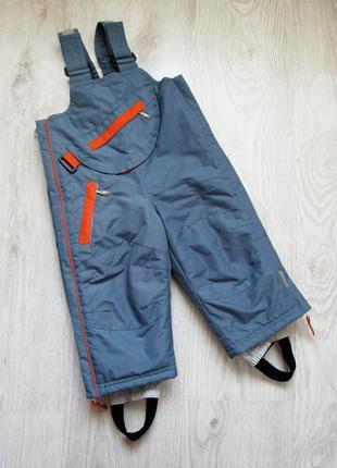 Полукомбинезон зима на мальчика, 12-18 мес., зимние штаны