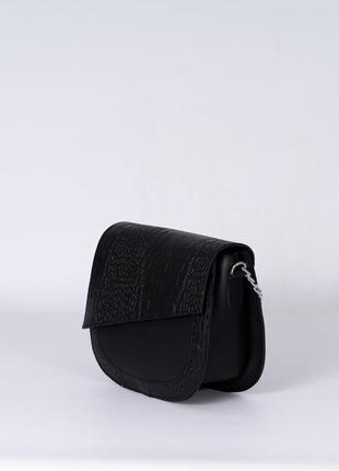 Молодежная маленькая сумочка через плечо черная модная сумка кросс боди мини на ремешке