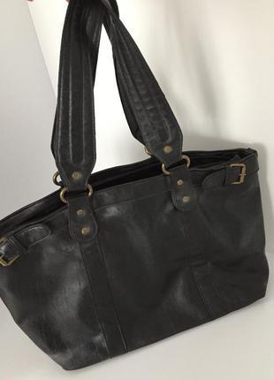 Сумка кожа pu, удобная сумка, черная сумка, велика сумка, через плечо.