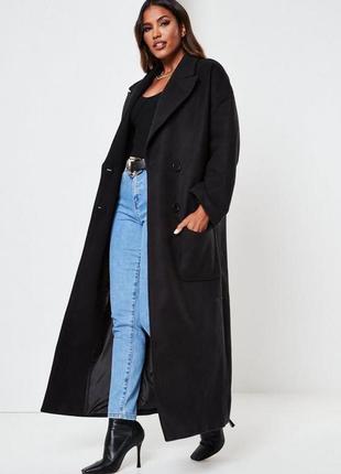 Длинное двубортное пальто missguided,uk10
