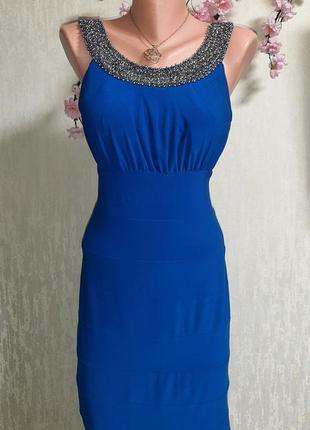 Красивое платье scarlett mite электрик 💙