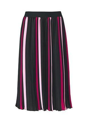 Плиссированная миди юбка плиссе tcm tchibo
