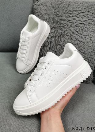 Кроссовки женские белые кожзам кросівки кеди білі sale