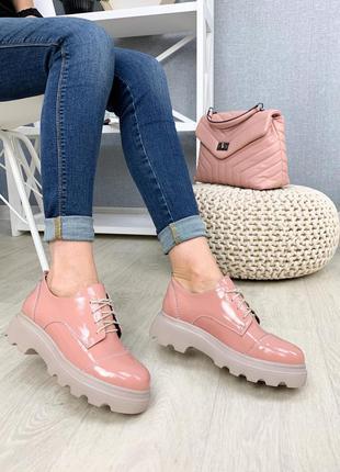 Кожаные лаковые туфли 1988, демисезон