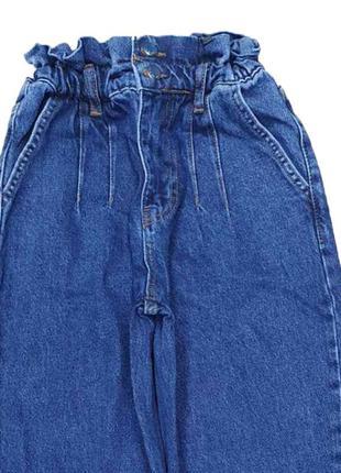 Новинка стильные джинсы баллоны пояс на резинке турция