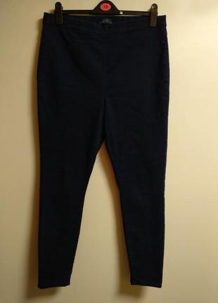 Темно-синие джеггинсы джинсы 16/50-52 размера