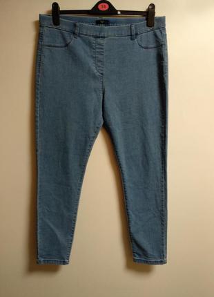Актуальные мягкие стрейч джинсы джеггинсы 16/50-52 размера