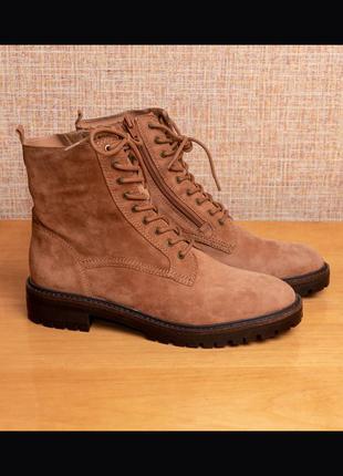 Оригинал! замшевые ботинки lucky brand idara us7/eur37.5/25cм стелька от края до края