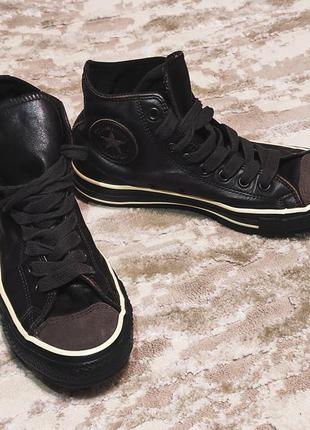 Оригинальные кожаные кеды converse all star (неношеные)