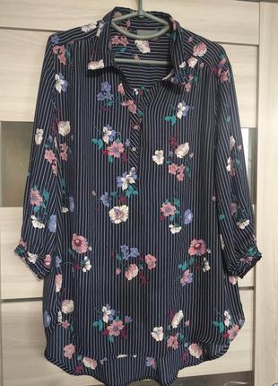 Блуза в цветочный принт yessica
