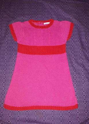 Платье вязаное (туника) на рост 86