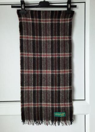Тёплый мужской шарф в клетку. canda france.