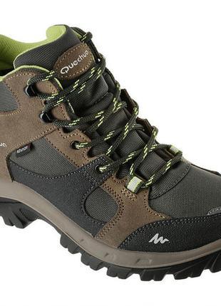 Легкие демисезонные утепленные кроссовки/ ботинки quechua р.37 (23 см) не промокают !!!