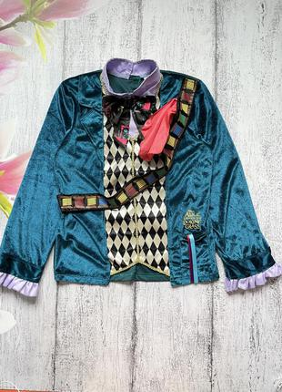 Крутой карнавальный костюм кофта алиса в стране чудес безумный шляпник george 9-10лет