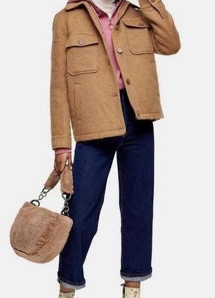 Шикарная курточка рубашка с шерстью