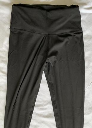 Легінси з високою талією, чорні спортивні лосини.