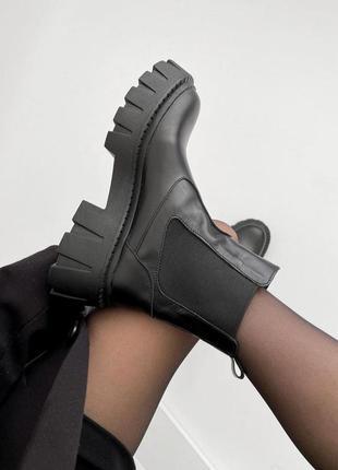 Ботинки челси натур.кожа