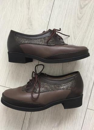 Ботинки, полусапожки, модная обувь, коричневі черевики, коричневые туфли на весну.