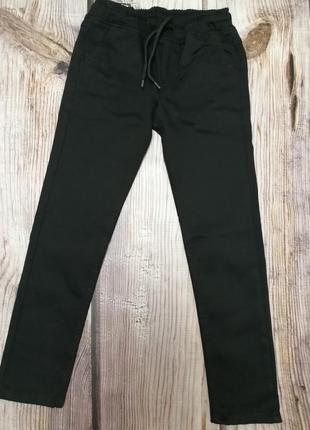 Утеплённые коттоновые штаны, на резинке, с флисовым напылением
