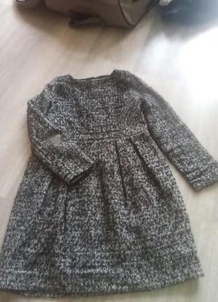 Теплое шерстянное платье с подкладкой