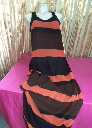 Платье в полоску длинное