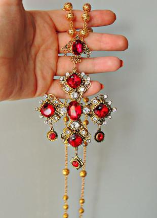 Кулон крест в стиле дольче габбана.