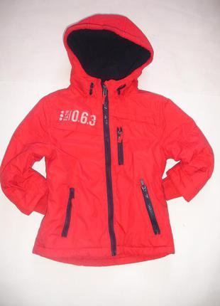 Фирменная george яркая теплая куртка мальчику 1,5-2 лет в идеале