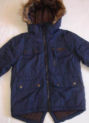 Фирменная trespass деми куртка парка мальчику 3-4 лет новая