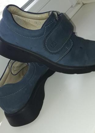 Очень  добротные  туфли - кожа  нубук.