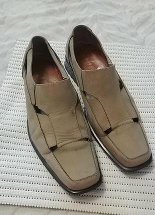 Суперские туфли нубук faber