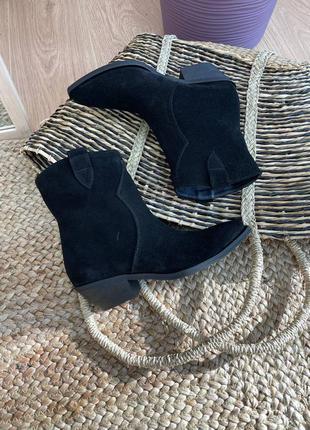 Ботинки челси женские деми зима натуральная кожа замша