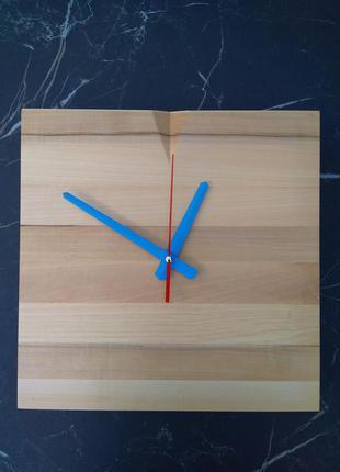 Годинник настінний дерев'яний ручної роботи в стилі loft