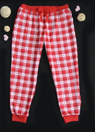 Новые дом.\пижамные штаны-джогеры george хлопковая фланель р.2xl\3xl