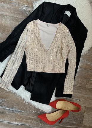 Стильный яркий укорочённый топ/ блуза от river island