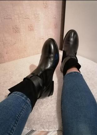 Ботинки натуральная кожа шкіра черевики