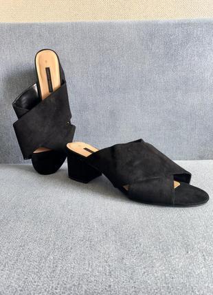 Шикарные босоножки туфли шлепки на широкую ногу