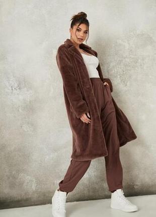 Меховое пальто missguided,uk10