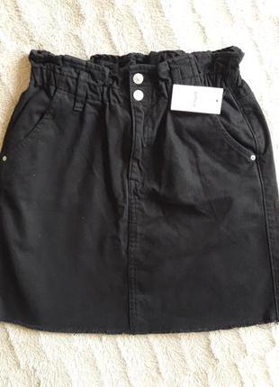 Черная джинсовая юбка pimkie