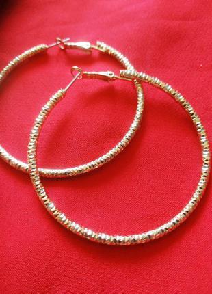 Винтажные серьги кольца