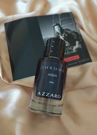 Туалетная вода azzaro chrome aqua,парфуми чоловічі, тестер оаэ, парфюмерия