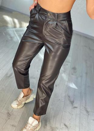 Женские брюки леггинсы эко-кожа